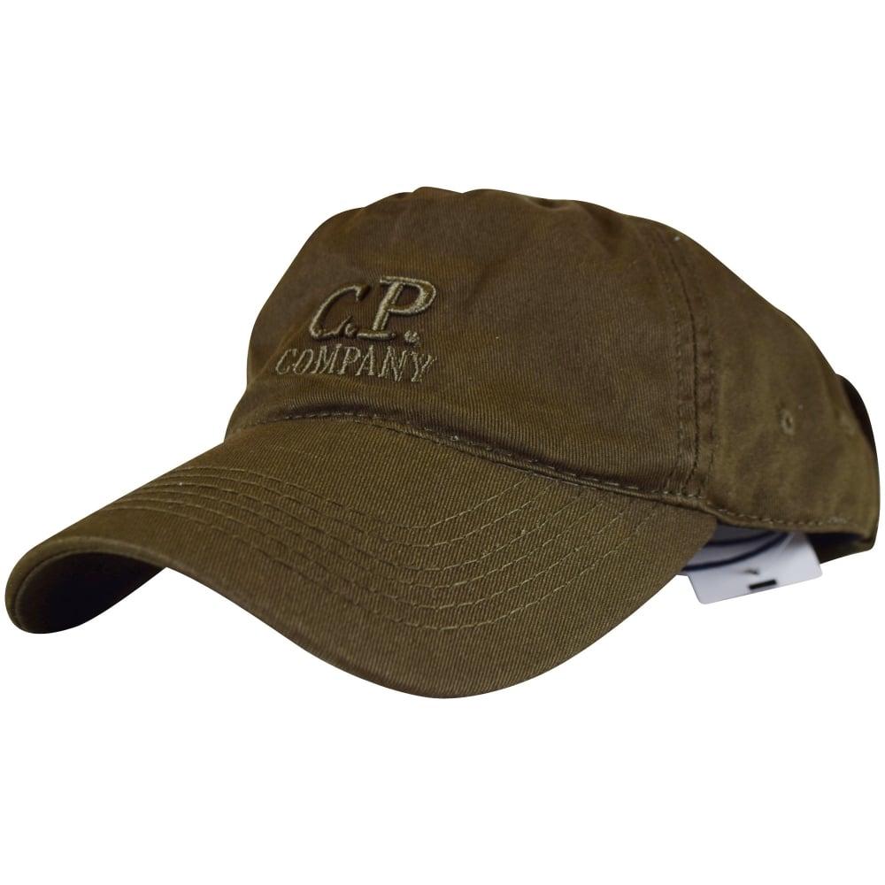C.P. COMPANY C.P. Company Khaki Goggle Baseball Cap - Men from ... 316dd867207