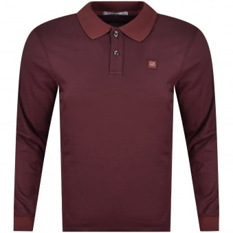 C.P. Company Long Sleeved Logo Polo Shirt
