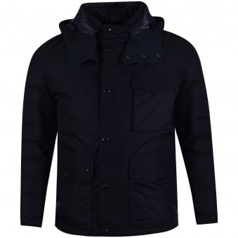 C.P. Company Navy Goggle Hooded Puffer Jacket