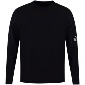 C.P. Company Navy Neoprene Side Zip Sweatshirt