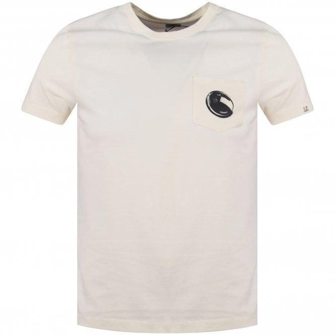 c8d760e19 C.P. COMPANY C.P. Company Off White Lens Logo T-Shirt - Department ...