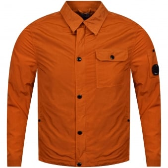 C.P. Company Orange Zip Up Over Shirt