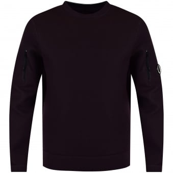 C.P. Company Plum Neoprene Side Zip Jumper