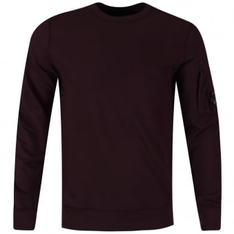 C.P. Company Plum Zip Sleeve Pocket Sweatshirt