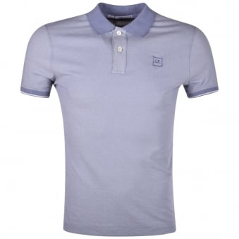 C.P. Company Purple Logo Polo Shirt