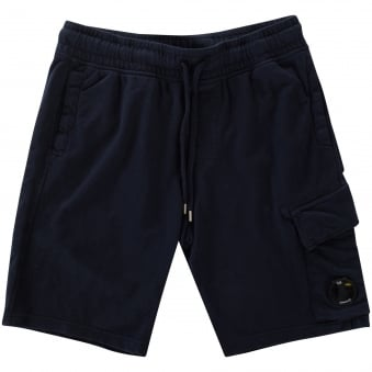 C.P. Company Total Eclipse Navy Goggle Jogger Shorts