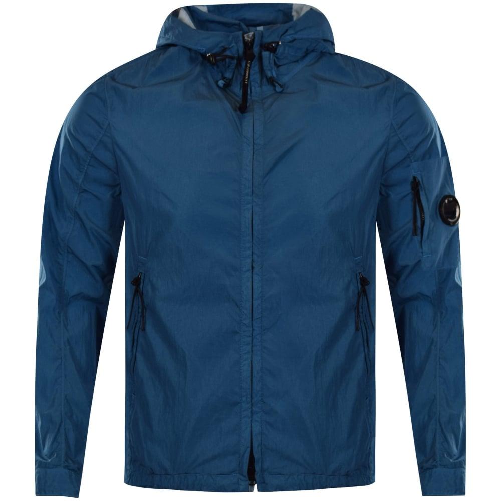 C.P. COMPANY C.P. Company Turquoise Lightweight Hooded Jacket ...