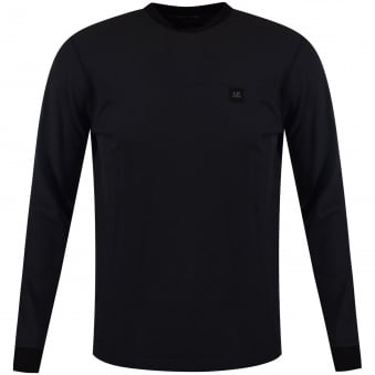 C.P. Company Washed Black Logo Longsleeve T-Shirt
