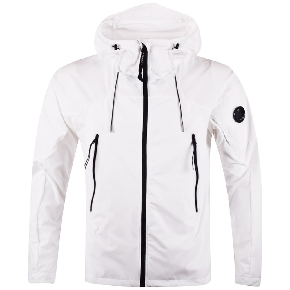 C.P. COMPANY C.P. Company White Lightweight Goggle Jacket - Men ...