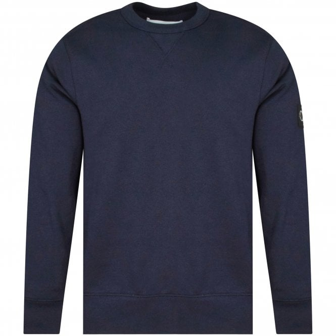 CALVIN KLEIN JEANS Navy Embroidered Patch Sweatshirt Front