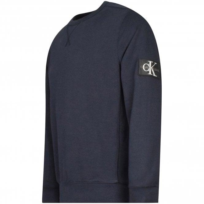 CALVIN KLEIN JEANS Navy Embroidered Patch Sweatshirt Side