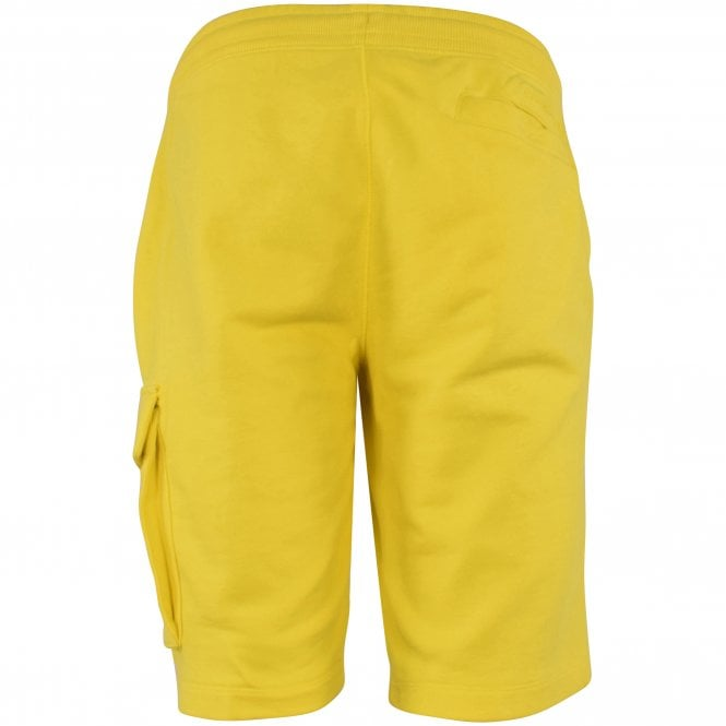 CALVIN KLEIN JEANS Yellow Embroidered Badge Shorts Reverse