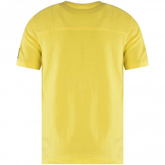CALVIN KLEIN JEANS Yellow Embroidered Patch T-Shirt Reverse