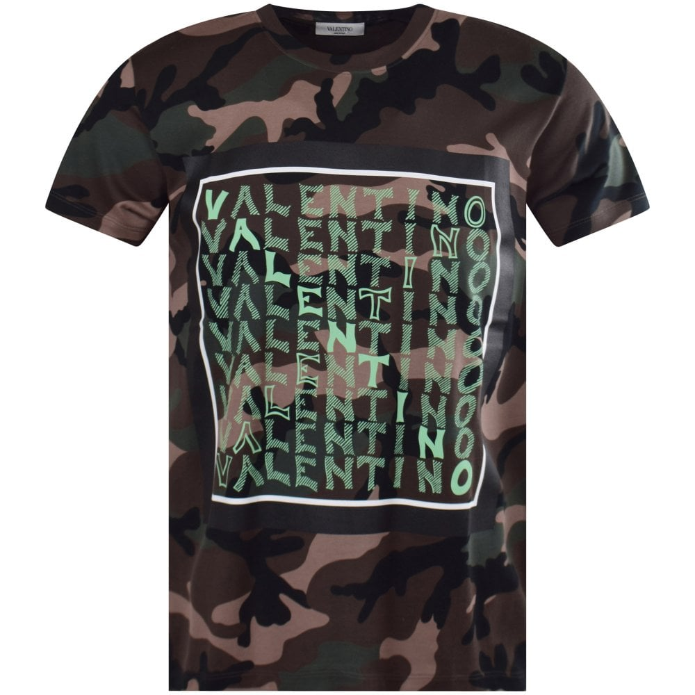 3767d538193e6 VALENTINO Camo Print T-Shirt - Men from Brother2Brother UK