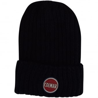 Colmar Originals Black Ribbed Beanie Hat