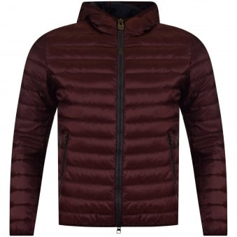 Colmar Burgundy Hooded Puffer Jacket