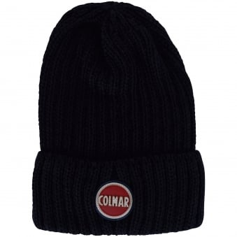 Colmar Originals Navy Ribbed Beanie Hat