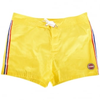 Colmar Originals Yellow Stripe Swim Shorts