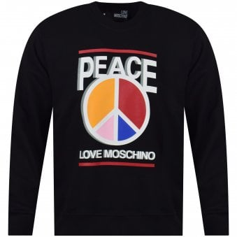 0f51483549b4c Coloured Peace Print Sweatshirt. LOVE MOSCHINO ...