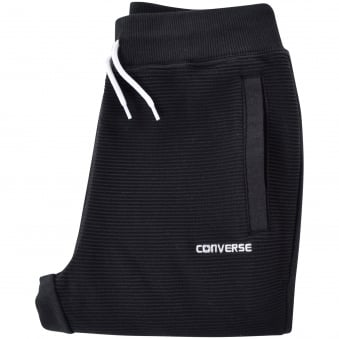 Converse Junior Black Ribbed Logo Joggers