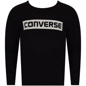 Converse Boys Black Print Long Sleeve T-Shirt