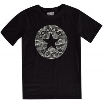 Converse Boys Black Short Sleeved T-Shirt