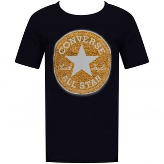 Converse Boys Navy Crew Neck All Star Print