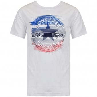 Converse Boys White Crew Neck Short Sleeve T-Shirt