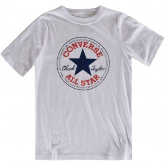 Converse Boys White Logo T-Shirt