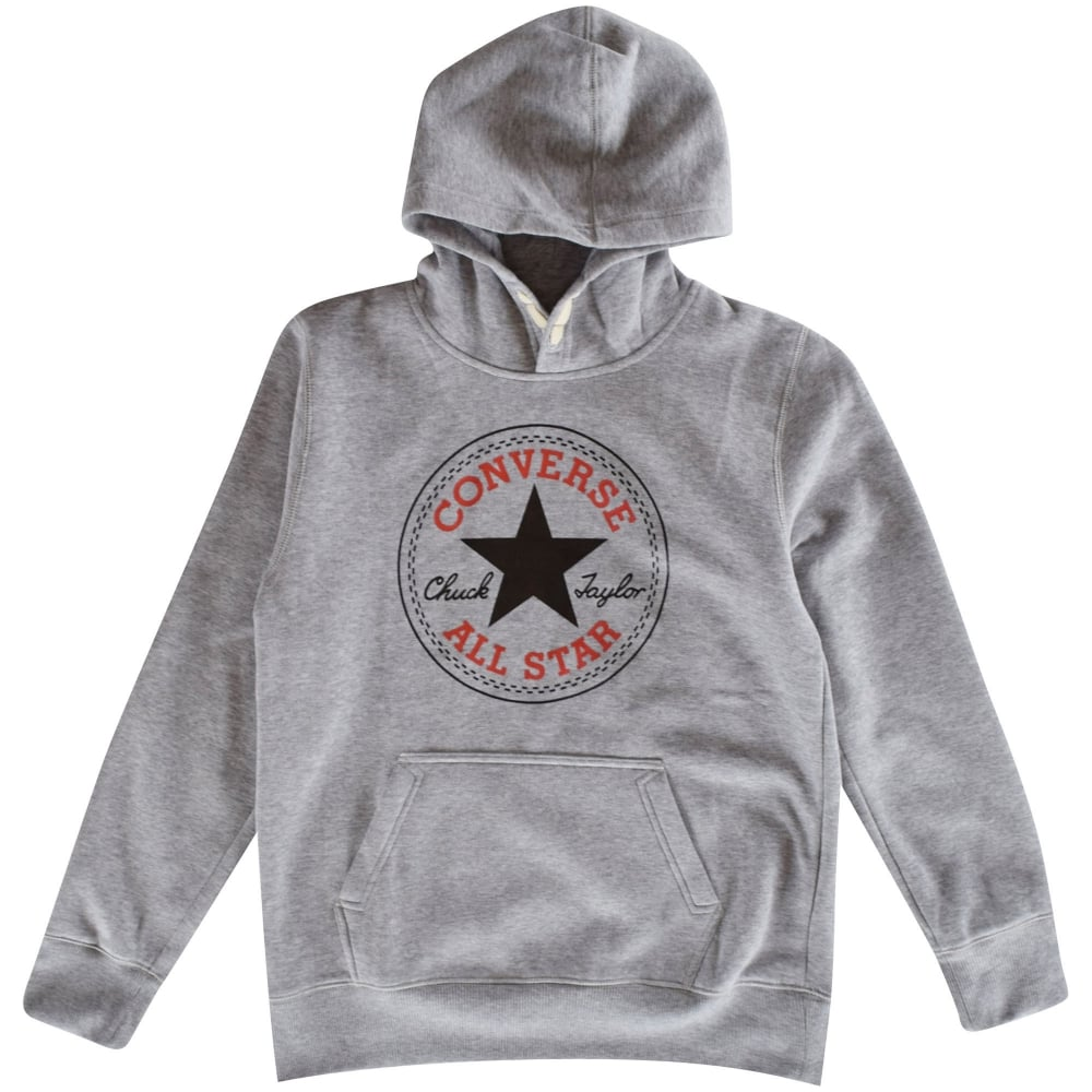 f99345f1f914 CONVERSE JUNIOR Converse Kids Grey Pullover Hoodie - Junior from ...