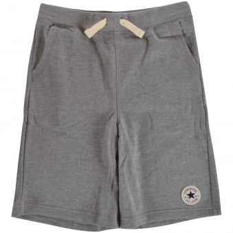 Converse Junior Grey Logo Jersey Shorts