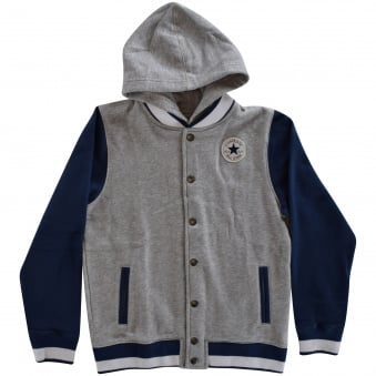 Converse Junior Grey/Navy Varsity Jacket