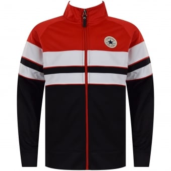 Converse Junior Red/Black/White Stripe Track Top