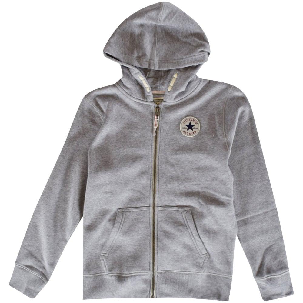 converse grey zip hoodie