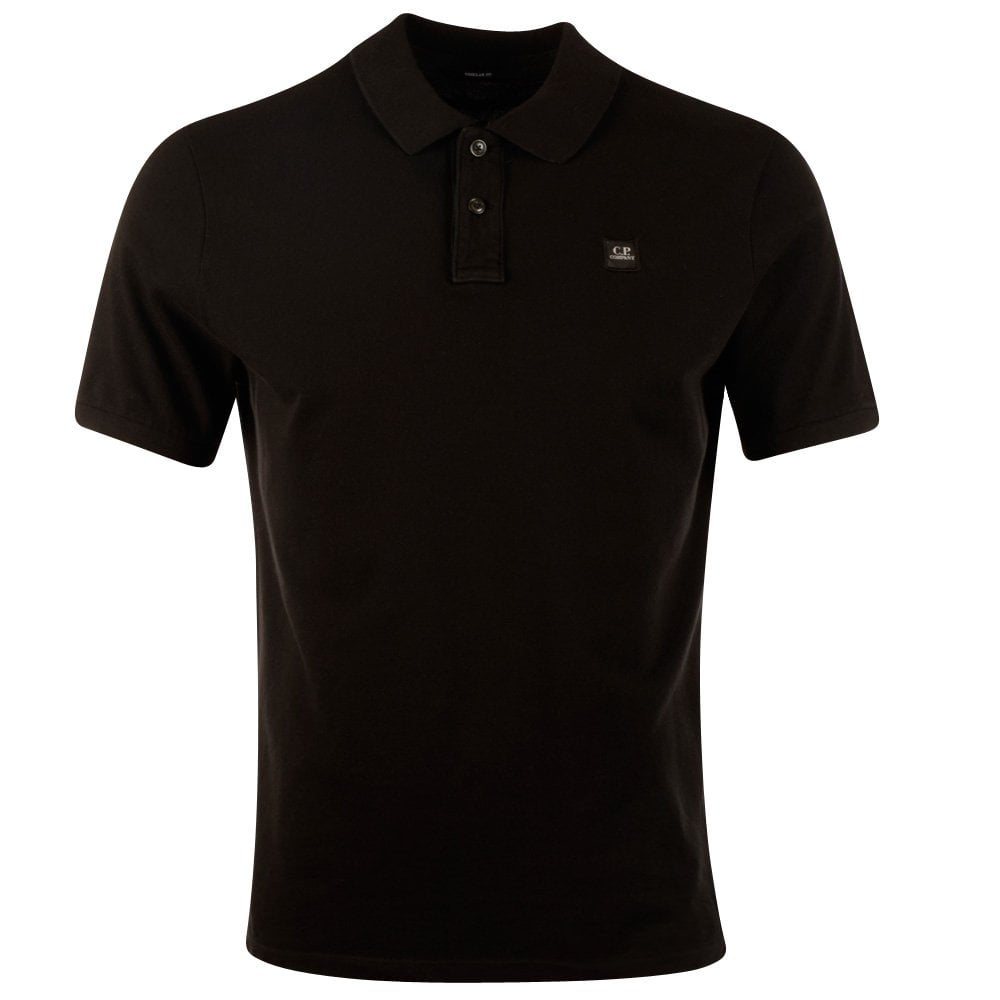 6ca7e6e0abe CP Company Black Short Sleeve Polo Shirt