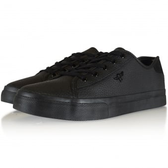 Creative Recreation Black Grained Kaplan Trainers