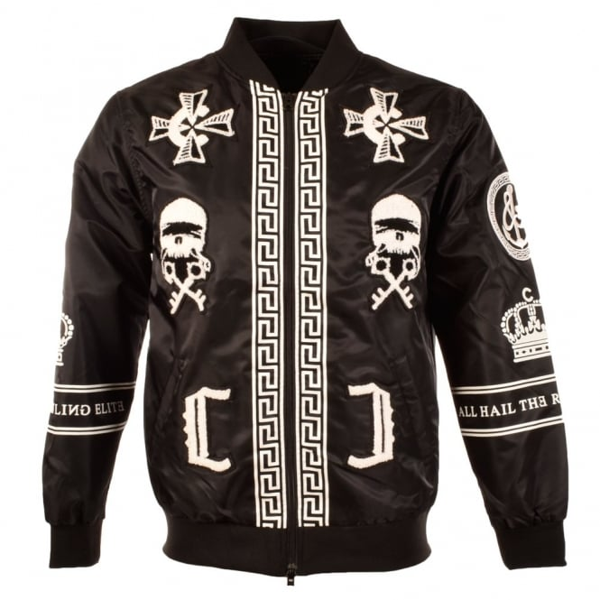 Crooks and castles leather jacket
