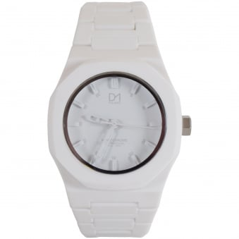 D1 Milano White Monochrome Watch