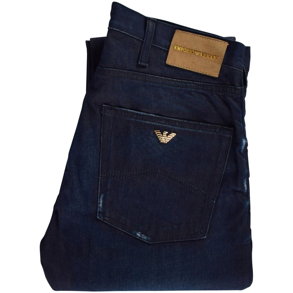 49ee2865 EMPORIO ARMANI Dark Blue J45 Regular Fit Jeans - Department from ...