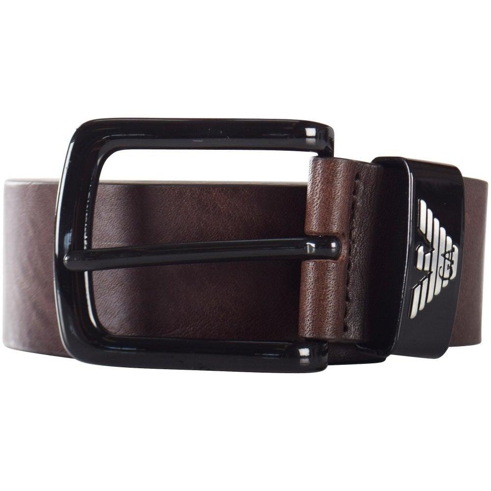 6ff1e22992 Dark Brown Eagle Loop Leather Belt