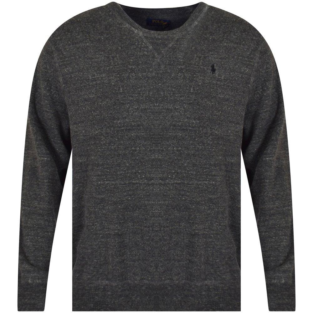 acffe45d POLO RALPH LAUREN Dark Grey Knit Logo Jumper - Department from ...