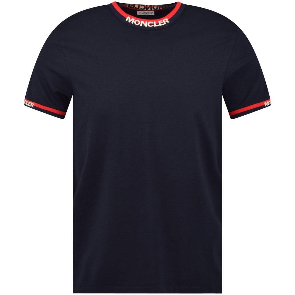 722e851cc Dark Navy Contrast Neck Logo T-Shirt