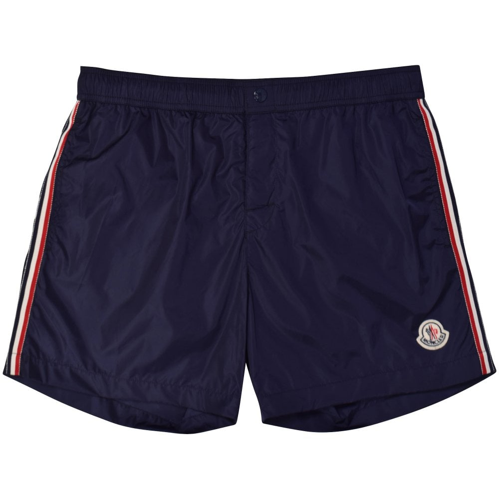 fab959b1805d6 MONCLER Dark Navy Side Strip Swim Shorts - Department from ...