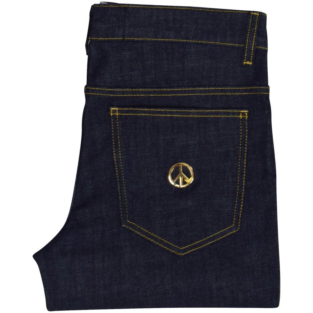 e24772fe9b Denim Stretch Peace Logo Jeans