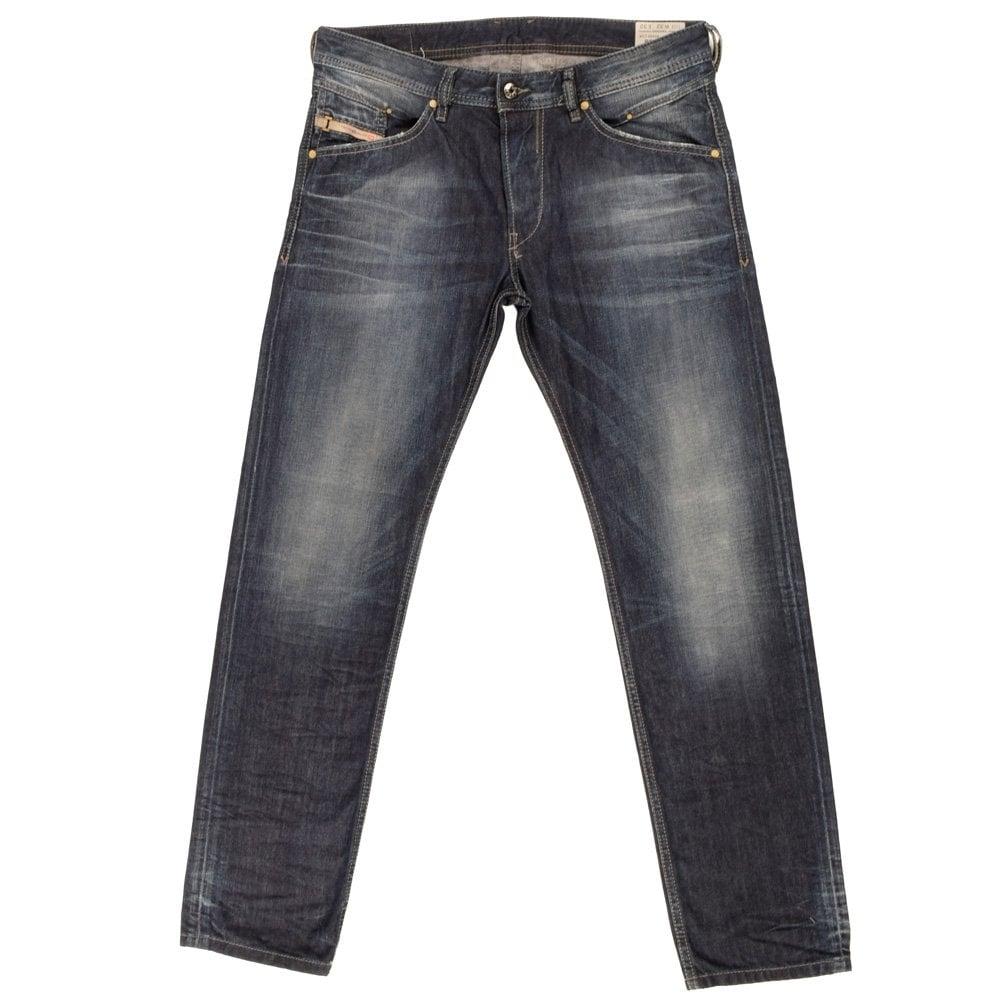 Nye DIESEL Diesel Belther Regular Slim-Tapered Fit Jeans Wash 0845A MF-56