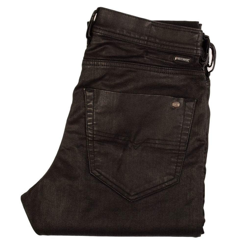 watch 29680 986d0 Tepphar High Shine Black Wash 0663Q Slim Carrot Jeans