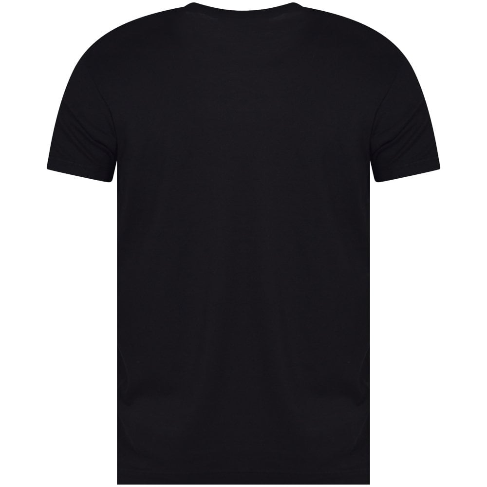 604e600333069 DSQUARED2 Black/Blue Logo Print T-Shirt - Department from ...