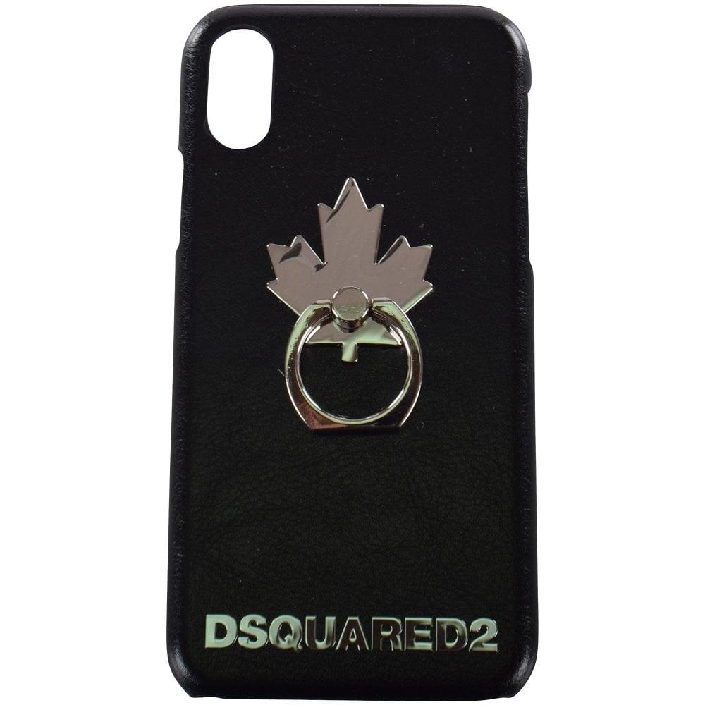 4e242133 Black Maple Leaf iPhone X Case