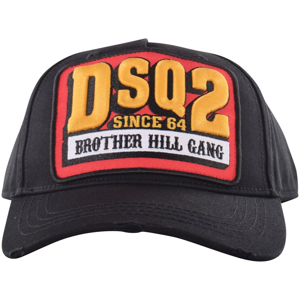 8181ceb3c4b17e DSQUARED2 Brother Hill Gang Baseball Cap In Black - Men from ...