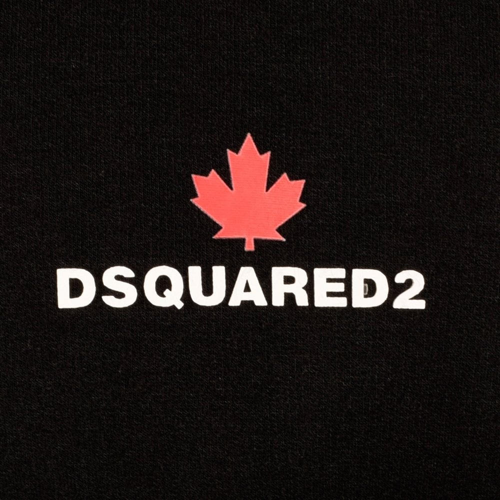 dsquared2 dsquared2 black short sleeve maple leaf t shirt dsquared2 from brother2brother uk. Black Bedroom Furniture Sets. Home Design Ideas